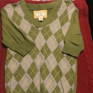 Fossil argyle sweater